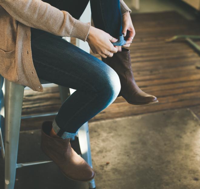 jeans-sitzen